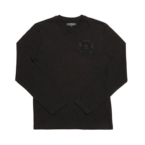 [하이드로겐]티셔츠 헤랄딕 롱 슬리브 블랙 H-160612