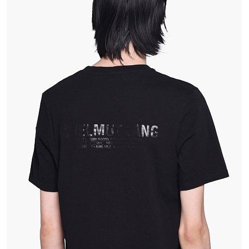 [유니쇼룸] 헬무트랭 백로고 프린트 티셔츠 블랙 J02HM510 001