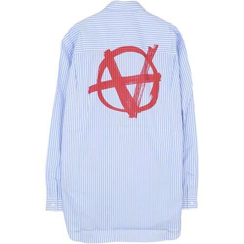 [까르피]베트멍 19FW UAH20SH704 오버핏 스트라이프 셔츠