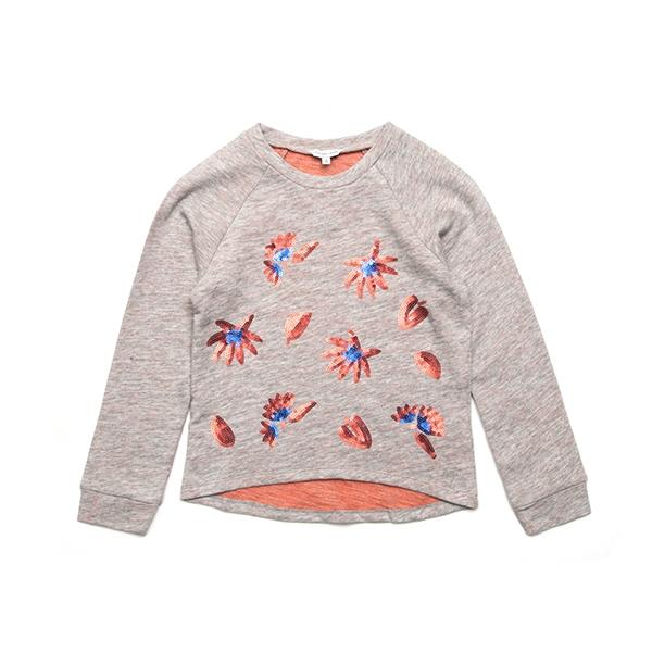[리틀 마크제이콥스] 롱슬리브 티셔츠W15248 Grey Marl Pink