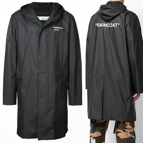 -디에고- 당일 18FW 오프화이트 RAIN COAT 프린트 코트 OMEA137