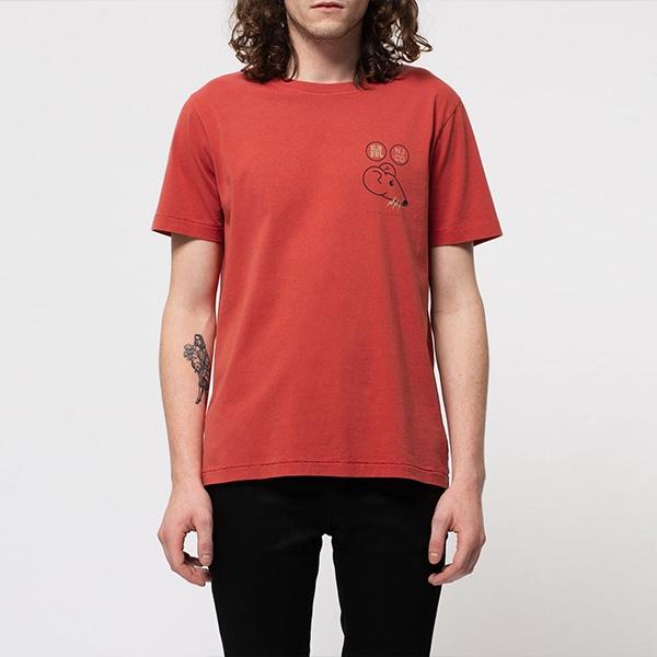 [신상포착] [누디진]맨즈 니트 티셔츠 131712 레드