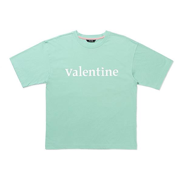[아베까띠] 프렌치 레터링 프린트 티셔츠 민트 - AI2Z0401