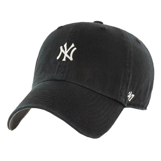 47브랜드 뉴욕양키스 스몰로고 볼캡 (블랙)