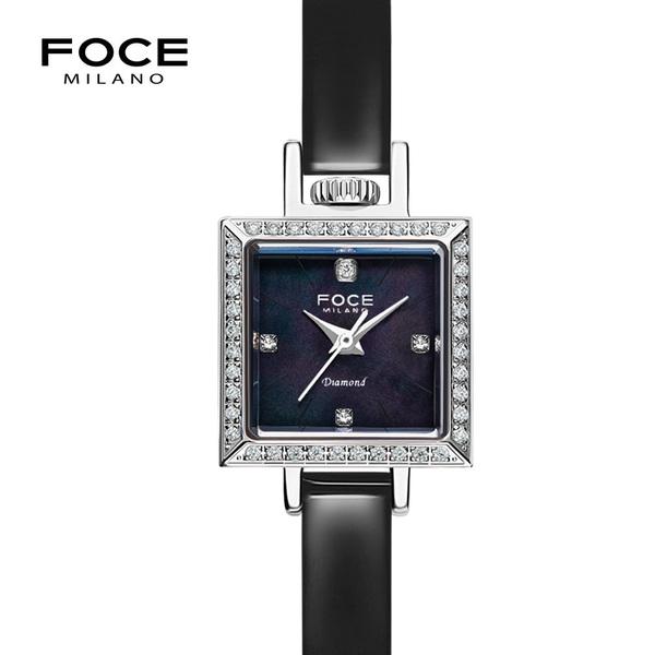 포체밀라노 18mm 여성 다이아몬드 가죽시계 FM1912L-BK