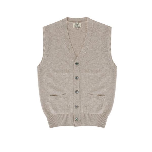 [벨리프]Lambswool vest Cardigan (Oatmeal)