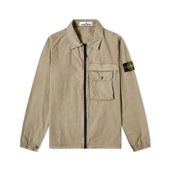 스톤아일랜드 와펜 올드이펙트 셔츠자켓 카키 남성 7315107WN V0168 20FW