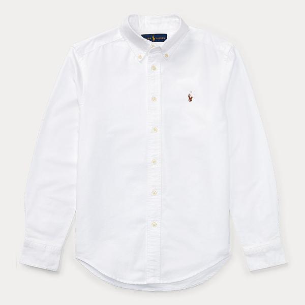 폴로 보이즈 코튼 옥스포드 셔츠 화이트 400179