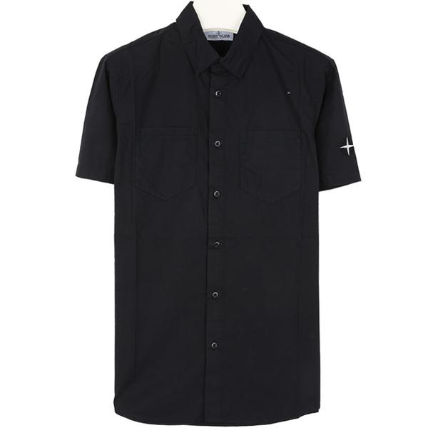 스톤키즈 701610401 V0020 자수 반팔 셔츠