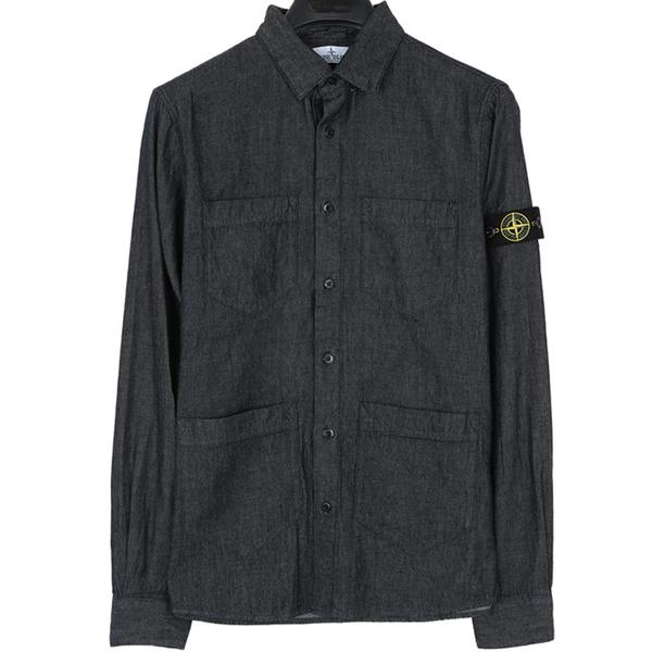 스톤키즈 701610203 WASH 자수 데님 셔츠
