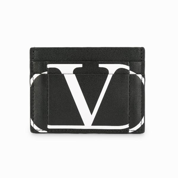 발렌티노 V로고 카드홀더 남녀공용 카드 지갑 블랙 SW2P0S60KZQ NER
