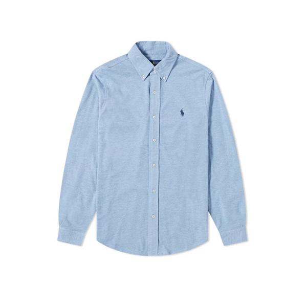 폴로랄프로렌 블루로고 커스텀핏 셔츠 데님블루 남성 710829480 001