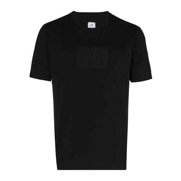 C.P. COMPANY 스퀘어 로고 자수 반팔 티셔츠 10CMTS180A-005100W 999