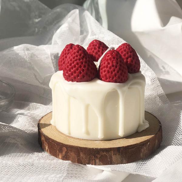 딸기 케이크 캔들 (선물상자)